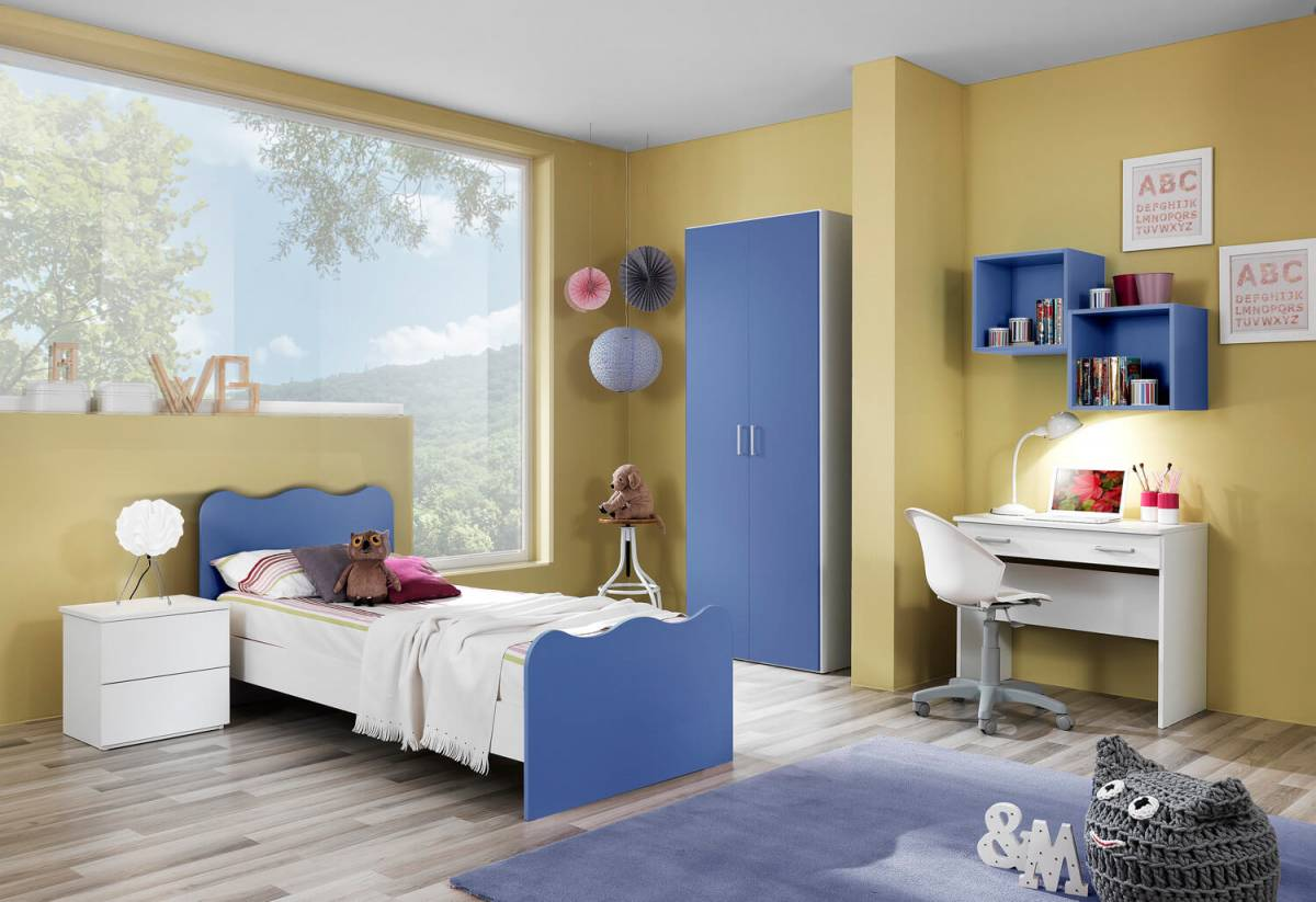 Cameretta bambini Crazy armadio 2 ante blu