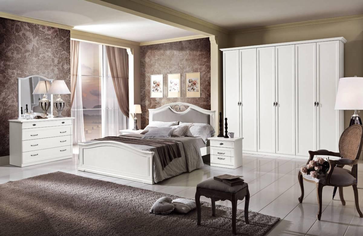 Camera matrimoniale Ortensia frassinato bianco