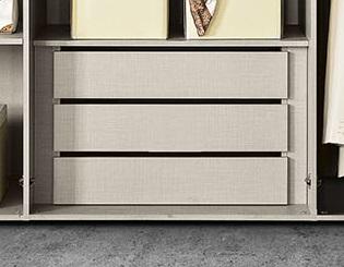 Cassettiera interna grigio tessuto per armadio Girasole/Lavanda/Erica