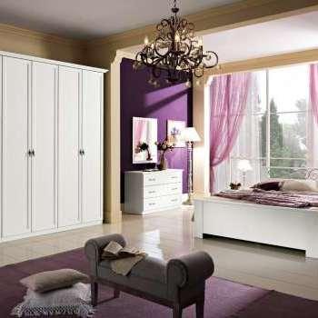 Camera matrimoniale Orchidea frassinato bianco