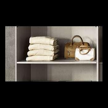 Ripiano interno grigio tessuto per armadio Girasole/Lilium/Erica